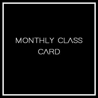dance levels monthly class card